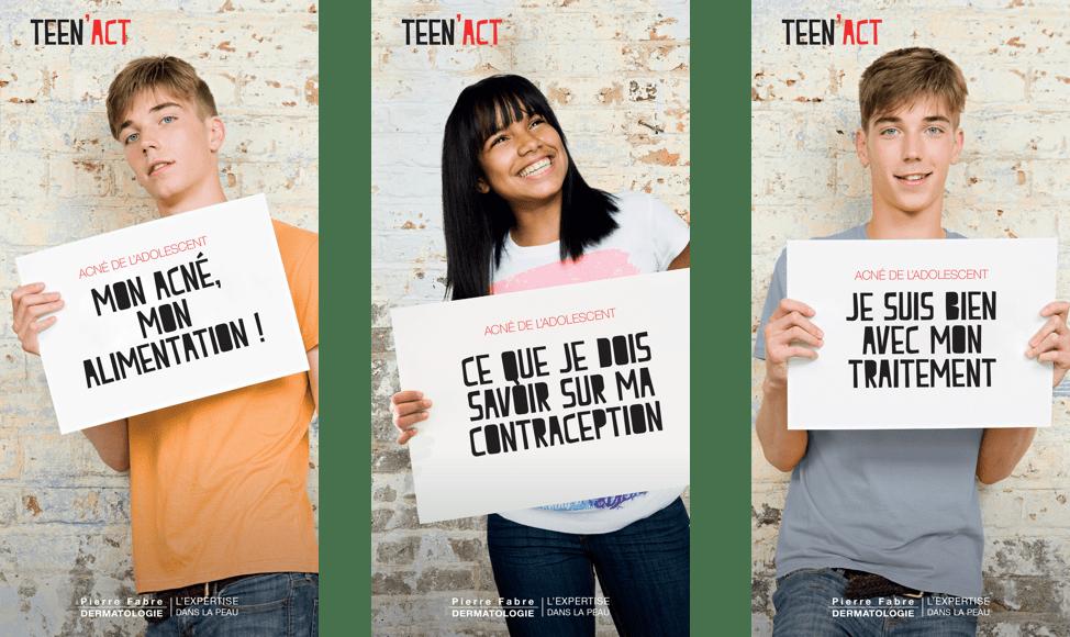 Les 3 brochures Teen'act