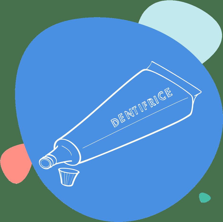 Dessin d'un tube de dentifrice